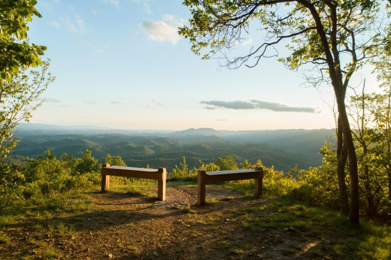 View of the Blue Ridge Mountains from Molly's Knob in Smyth County VA