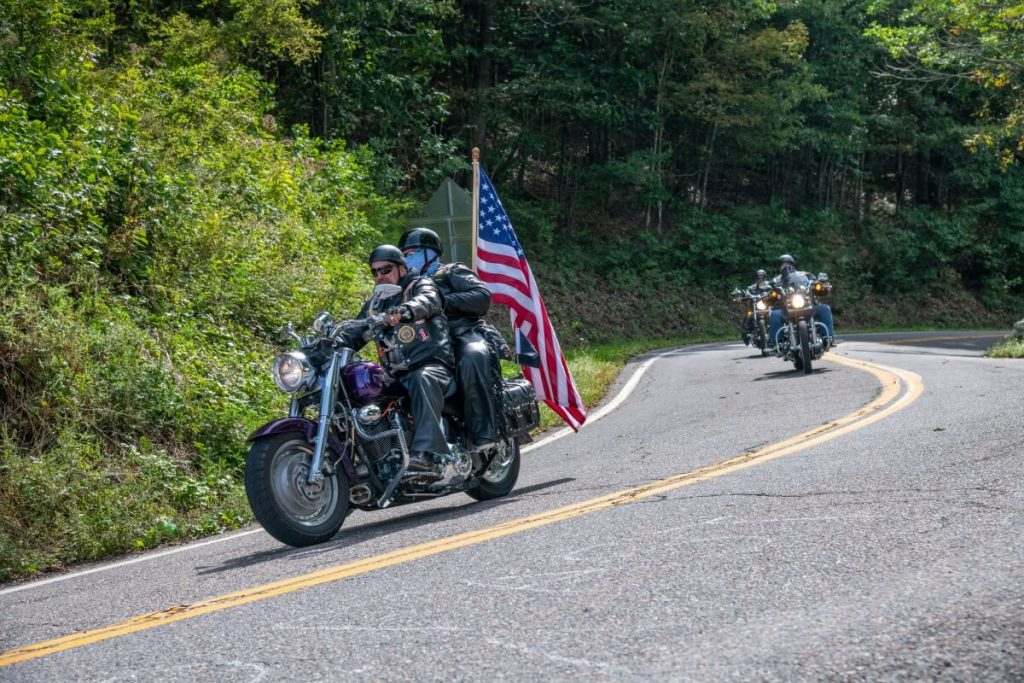 Motorcycle Riders on Back of the Dragon Scenic Drive in Smyth County VA