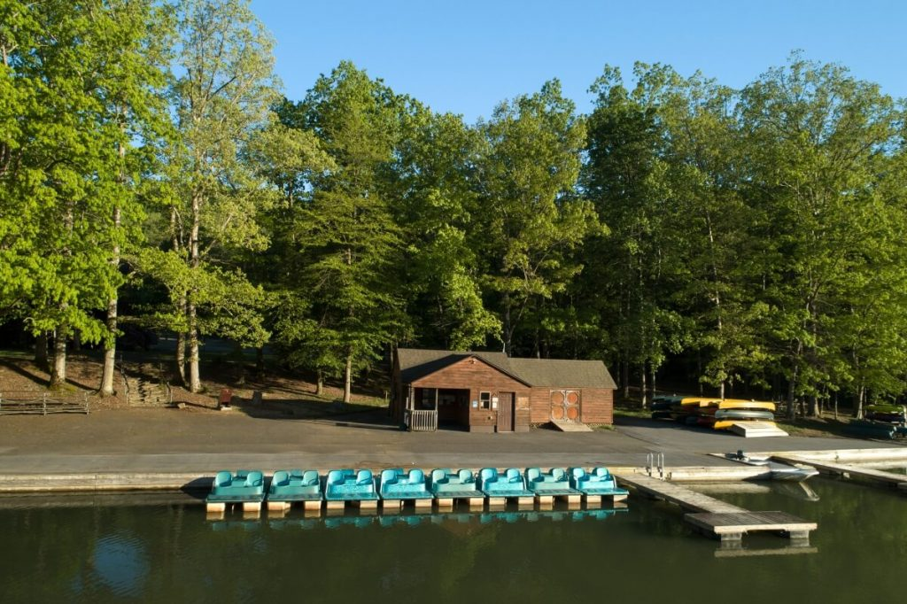Paddleboards and Kayaks at Hungry Mother Lake