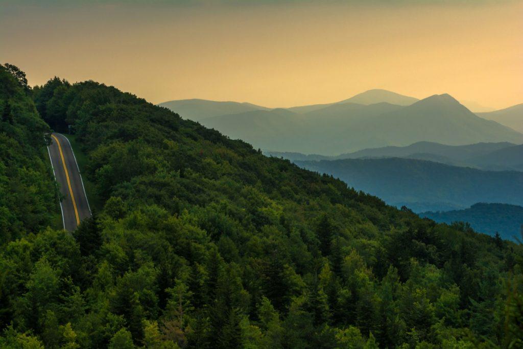 Scenic Drive in the Blue Ridge Mountains Smyth County VA