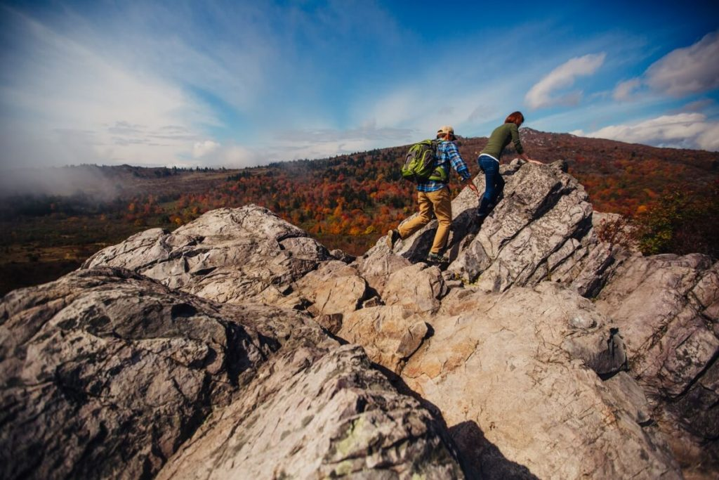 Hiking the Pinnacle Trail in Grayson Highlands in Smyth County VA