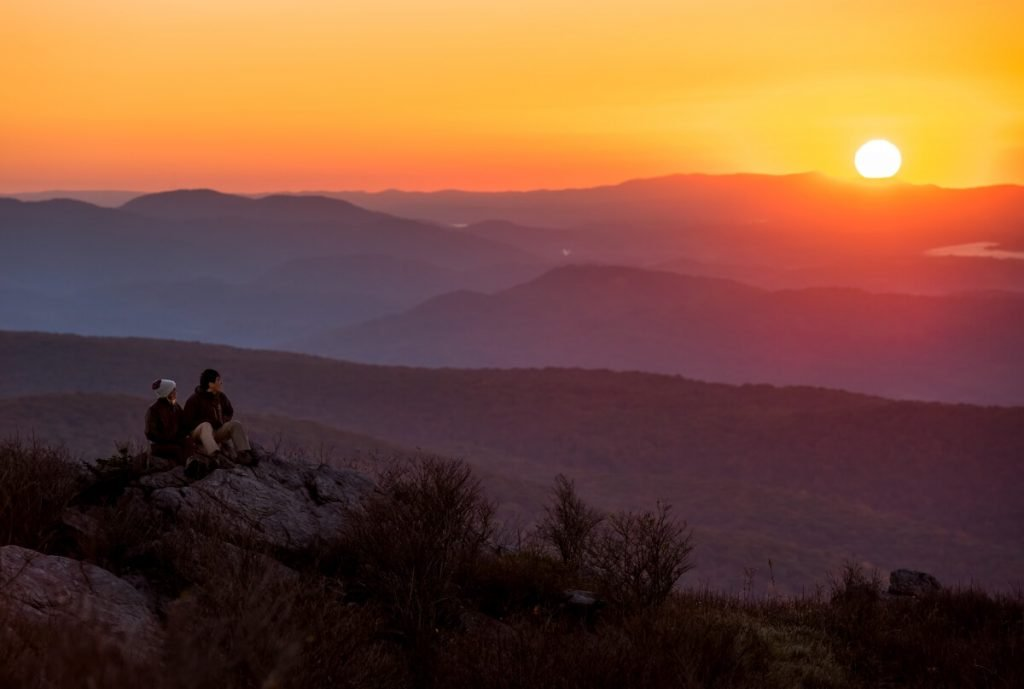 Grayson Highlands State Park Pinnacle Sunset in Smyth County VA