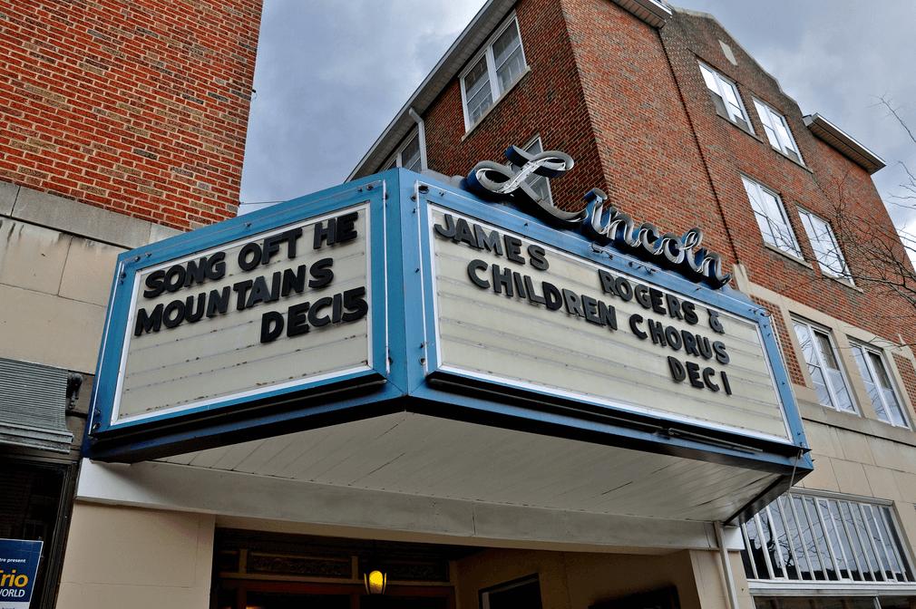 The Lincoln Theatre in Smyth county VA Marquee