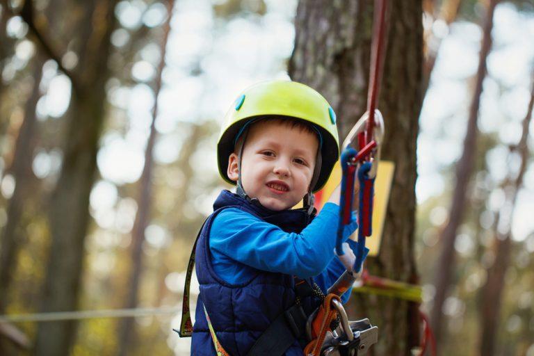 Happy,Little,Boy,Having,Fun,Outdoor,Vacation,Family, Activities, Zip Line