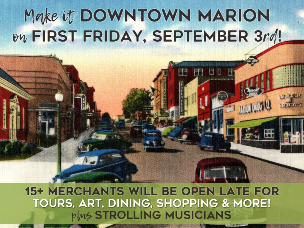 Make it Marion event the first weekend of the month in Marion, VA