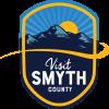 Visit Smyth County Logo Badge Blue Ridge Mountains